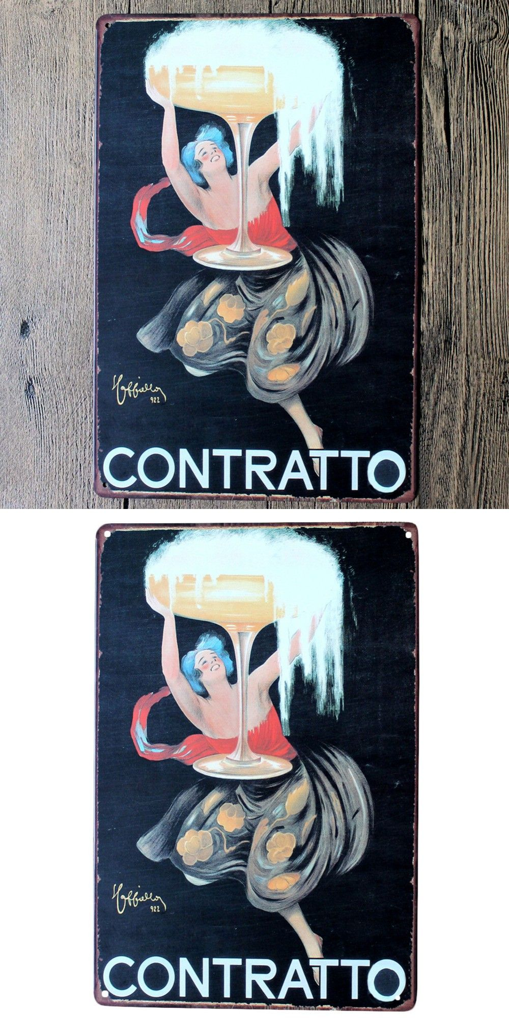 Contratto wall art in the distinctive wall poster vintage metal
