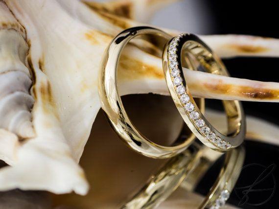 EheringeTrauringe mit Brillanten 585 Gold I von fabrior auf Etsy  getting married AF in 2019