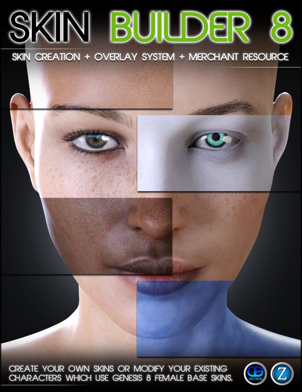 Skin Builder 8 for G8F | Daz3D People Tools | Skin mapping, Female