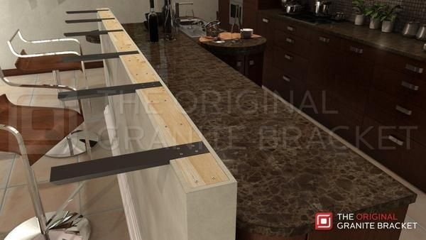 Knee Wall Countertop Support Bracket In 2020 How To Install