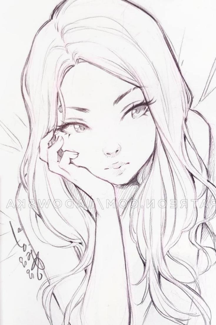Photo of Sad Anime sketch art ideas by @Ladowska
