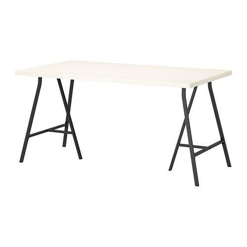 LINNMON/LERBERG Pöytä IKEA Valmiiksi poratut reiät helpottavat jalkojen kiinnittämistä.
