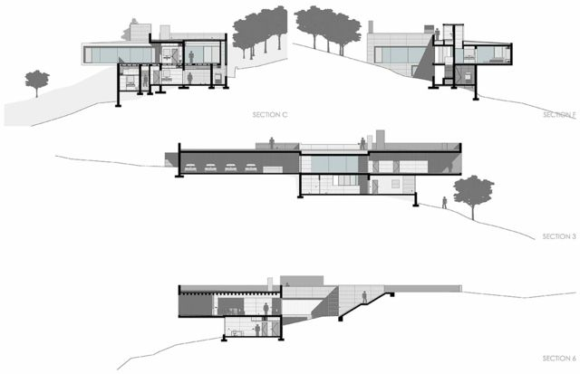 Haus Am Hang Moderne Minimalistische Architektur Bauplan