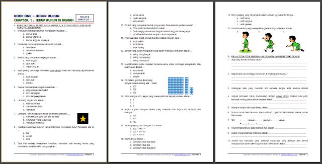 Download Soal Dan Kunci Jawaban Kelas 2 Semester 1 Tema 1 Subtema 1 Hidup Rukun Hidup Rukun Di Rumah Edisi Revisi Terba Sekolah Dasar Pendidikan Tema Kelas