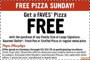 Papa Murphys Coupons Second Pizza Free Today At Papa Murphys Longhorn Steakhouse Coupons Longhorn Steakhouse Pizza Coupons