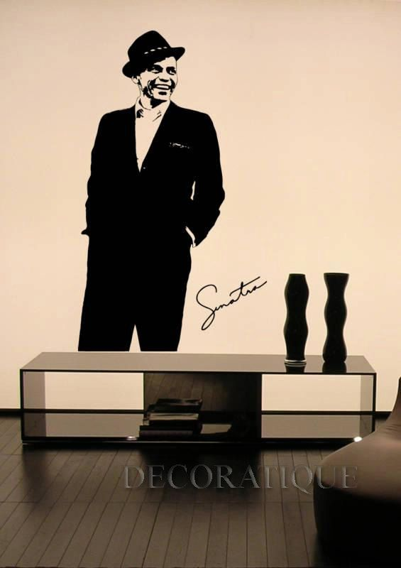 Frank Sinatra Full Pose Wall Sticker Decal By Decoratique