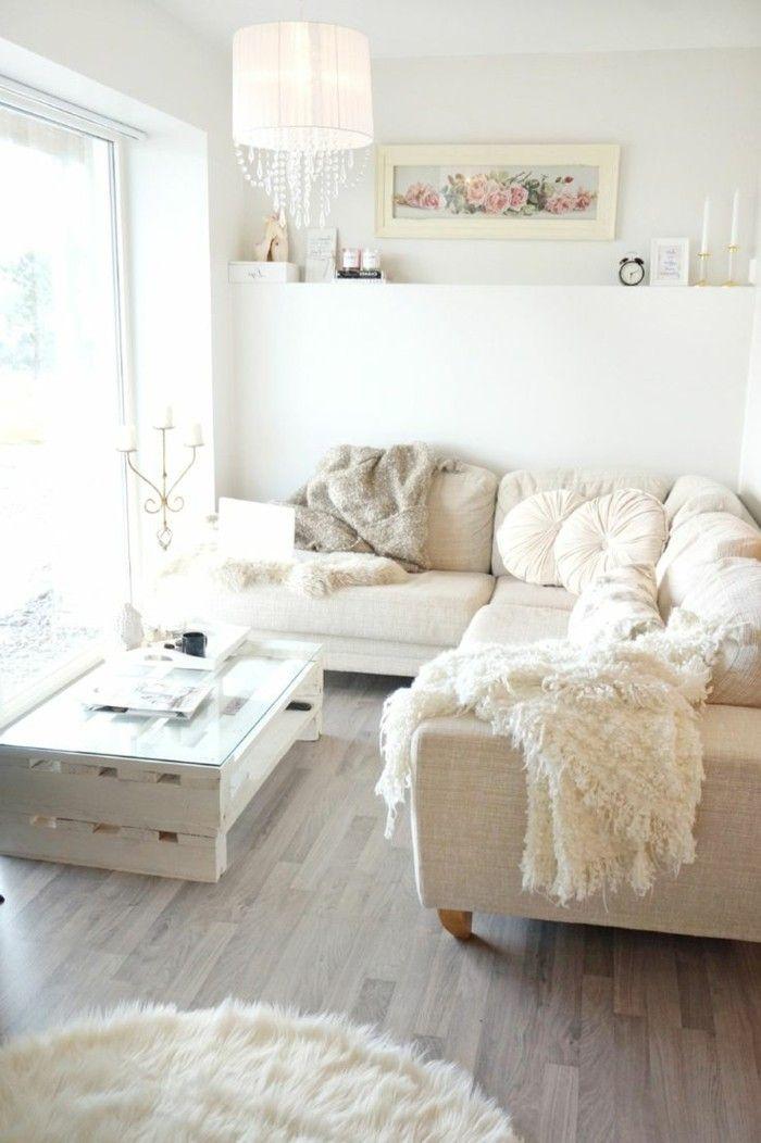 Wanddesign Ideen Wohnideen Wohnzimmer Weiße Wände Wandbilder