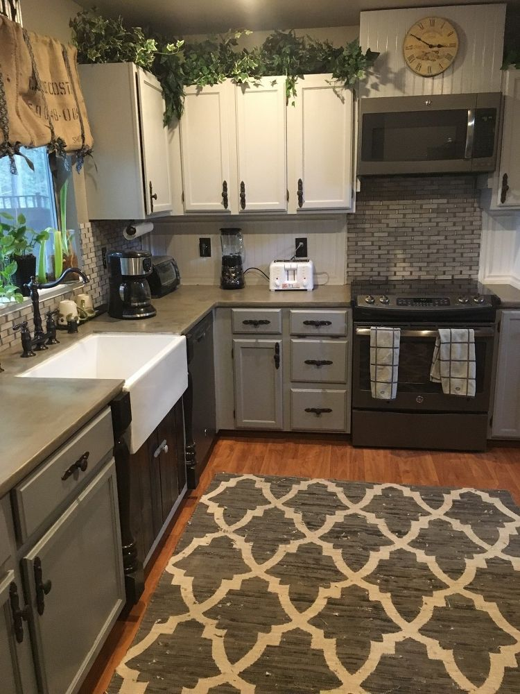 Kitchen Remodel: How to Stain Concrete Countertops with Coffee ...