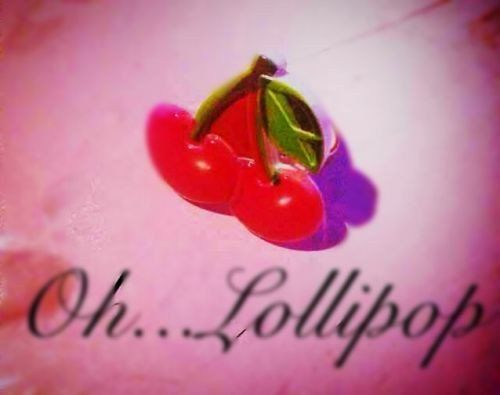 Oh Lollipop Juicy Red Cherry Pinup Rockabilly Adjustable Ring Kawaii Kitsch
