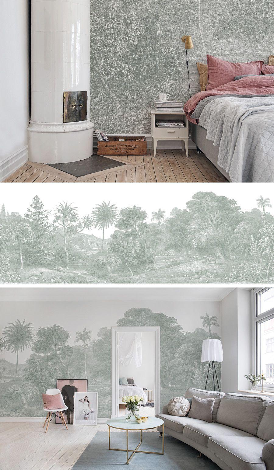 Jungle Land Verdant Schlafzimmer Tapete Wohnzimmer Tapeten Ideen Haus Deko