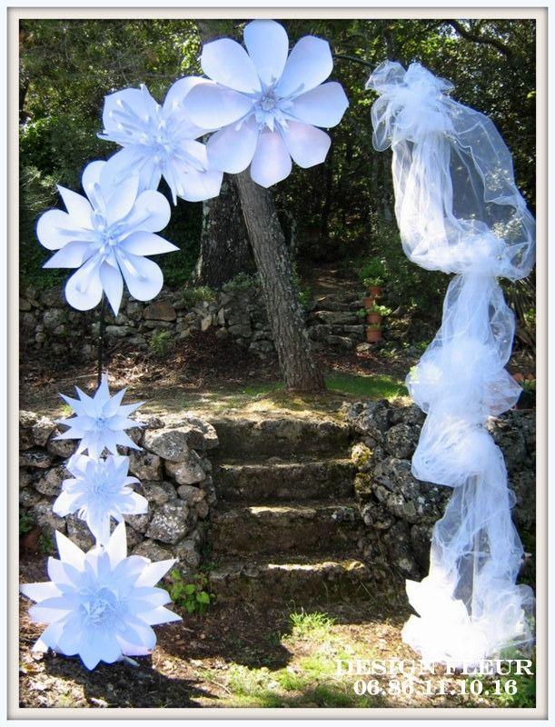 arche florale pour mariage accessoires de maison par. Black Bedroom Furniture Sets. Home Design Ideas