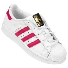 caa93afc8e7 Tênis Adidas Infantil (Menina) Superstar Foundation Casual