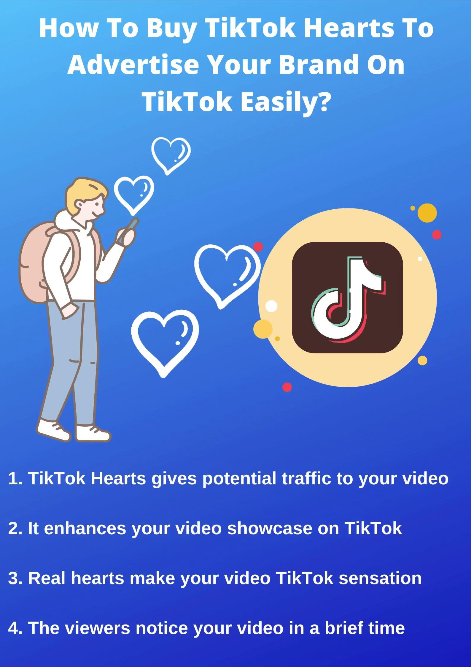 How To Buy Tiktok Hearts To Advertise Your Brand On Tiktok Easily Video Brand Promotion Social Media Services You Videos
