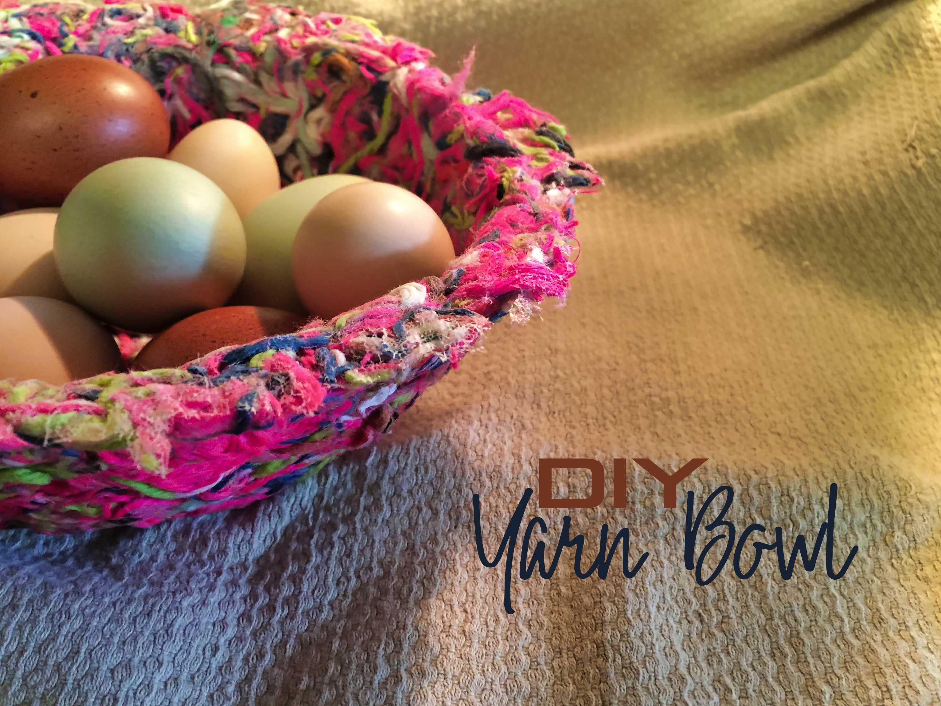 Craft a bowl with yarn scraps