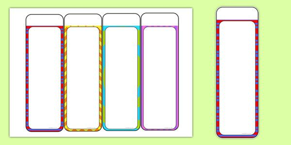 Editable Bookmarks For Reading Free Printable Bookmarks Bookmark Template Reading Bookmarks