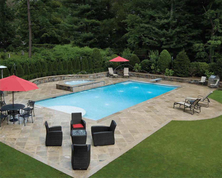 Beautiful Backyards With Pools 36 Decoratoo Pool Landscape Design Backyard Pool Landscaping Inground Pool Landscaping