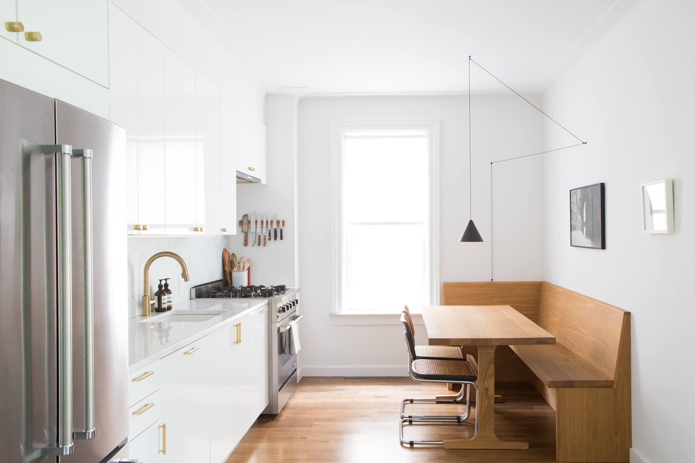 Kitchen Of The Week An Ikea Kitchen With An Elegant Upper Cabinet Impressive Brooklyn Kitchen Design Decorating Design