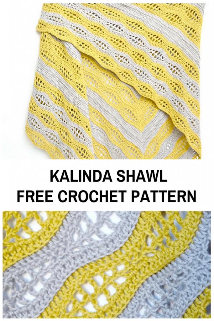 Triangular Crochet Shawl Pattern For Beginners Pinterest Crochet