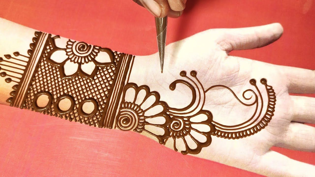 simple latest hand mehndi design
