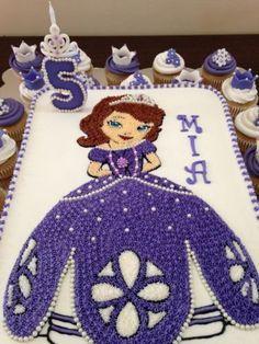 tortas decoradas con merengue de princesa sofia - Buscar con Google