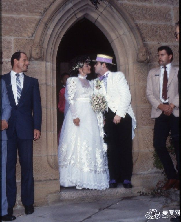 29 Iconic Celebrity Wedding Dresses: Elton John & Renate Blauel February 14, 1984