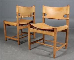 Lot: 3821882 Børge Mogensen. A set of six chairs, model 3237 (6)