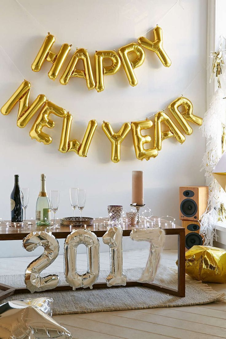 Happy New Year Balloon New Years Eve Decorations Gold Letter Balloons Also Available In Silver New Years Eve Decorations Gold Letter Balloons Eve Parties