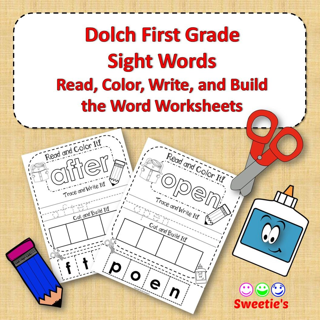 Dolch First Grade Read Trace Write And Build A Word