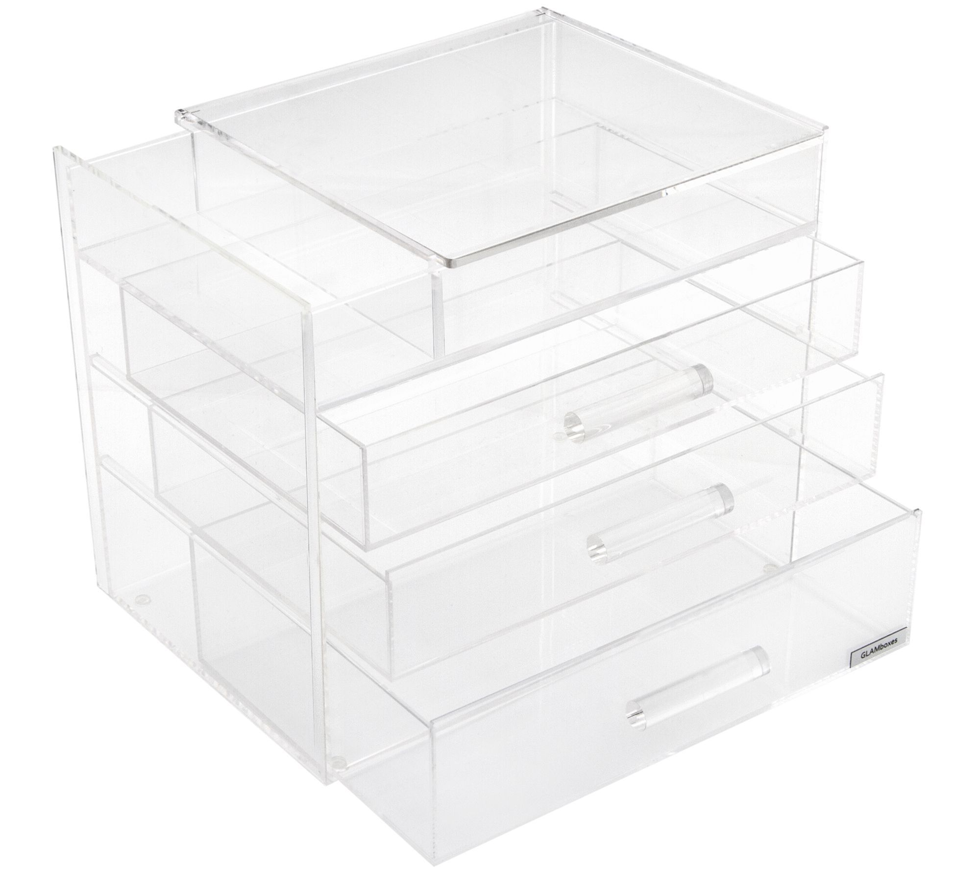 Qvc Makeup Organizer Simple Glamboxes Glampetite Makeup Box With Partiallid  Makeup