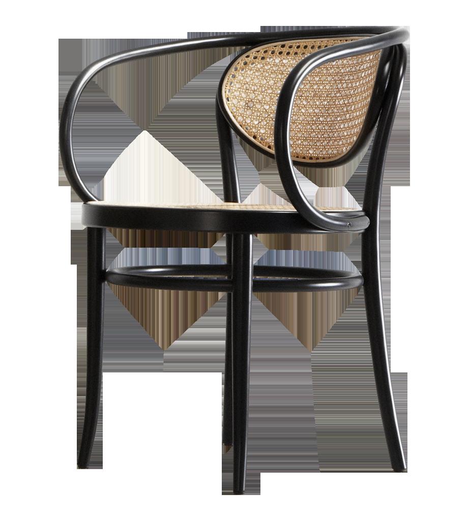 210 R Chair Brown Rattan and Bauhaus