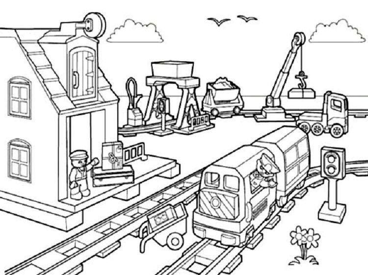 Lego Coloring Pages City