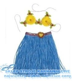 Kostium Hawajski Niebieska Spodnica Biustonosz Stroje Karnawalowe