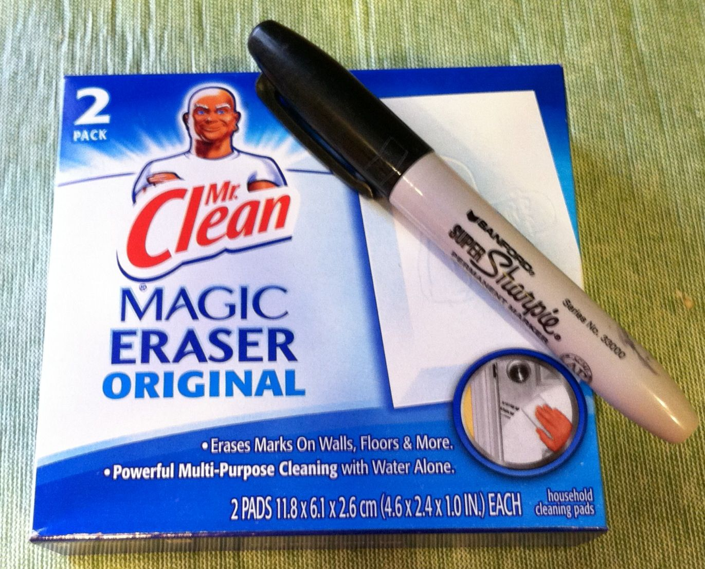 How To Remove Sharpie From Countertop Use Mr Clean Magic Eraser To Remove Permanent Marker From Any