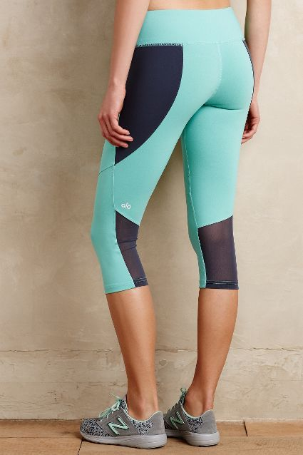 9cff5fac5cf36 Color-Spliced Capris - #anthrofave Cute Athletic Outfits, Cute Gym Outfits,  Athletic