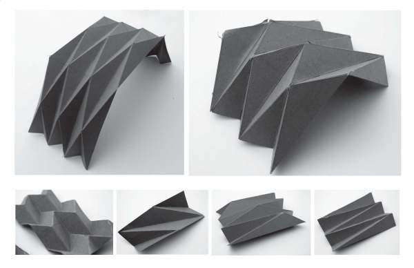 Photo of folded plate system