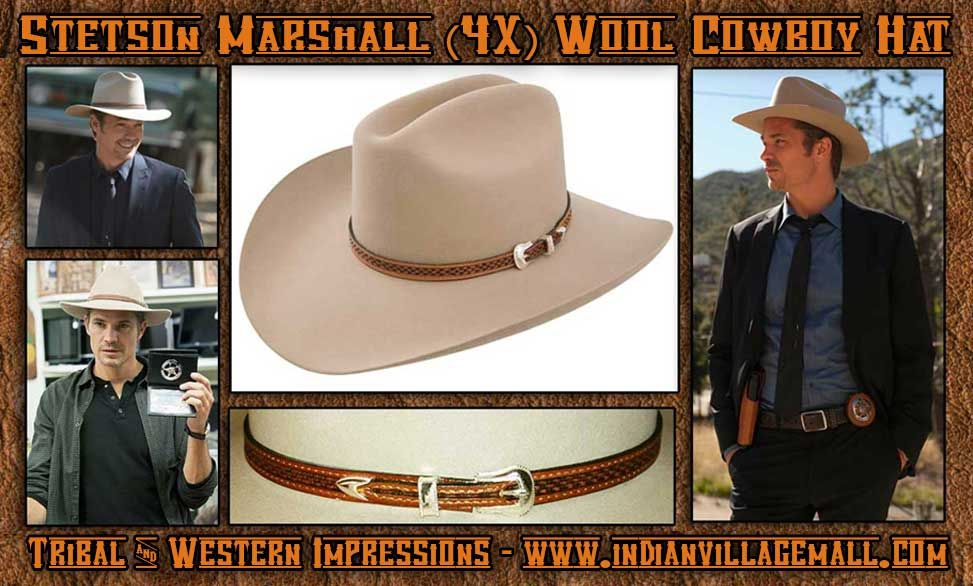 fce8b75543245d Stetson 4X Justified Style Marshall Givens Hat From Tribal And Western  Impressions -www.indianvillagemall.com