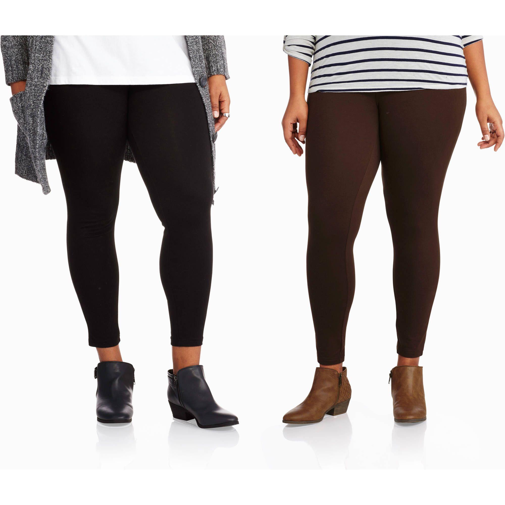 ae2a21ed753 Faded Glory Women s Plus-Size Essential Knit Leggings - Walmart.com ...