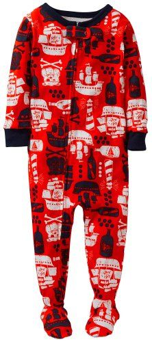 Carters 1 Piece Printed Footie Baby  Pirate Ship24 Months ** Details can be found by clicking on the image.