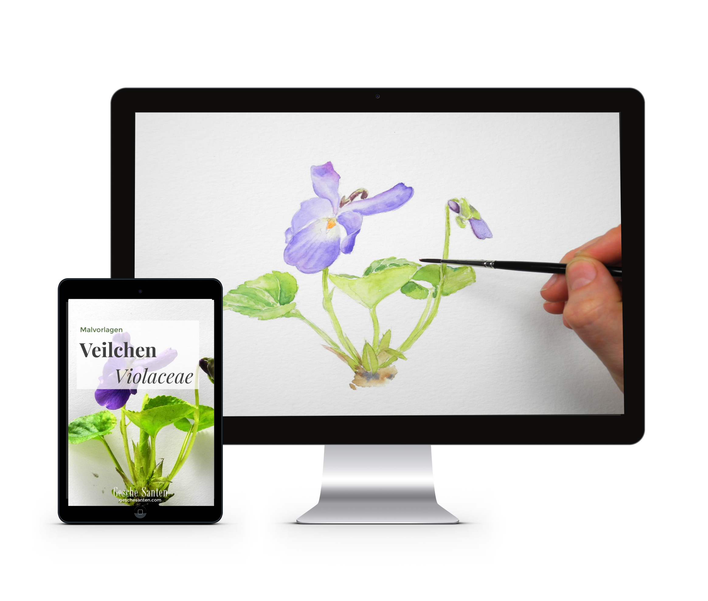 4 Fehler Die Du Beim Blumen Malen Machst Und Nein Es Ist Nicht Deine Technik Gesche Santen Natur Skizze Aquarell Blumen Malen