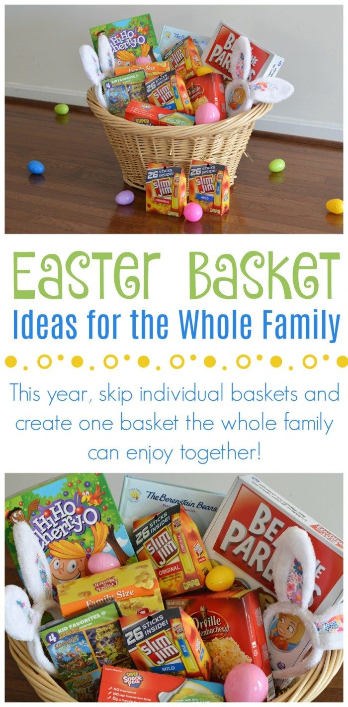 25 awesome ideas to include in your family easter basket easter weve started giving one easter basket to the whole family rather than individual baskets with 4 kids its not only a money saver it also helps us to negle Gallery
