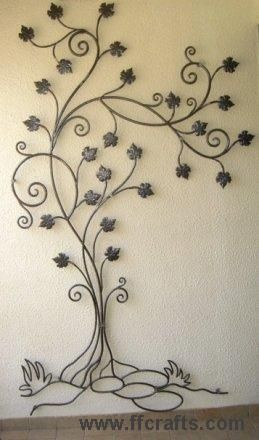 Colgar hierro tree adornos pinterest hierro - Adornos de pared de forja ...