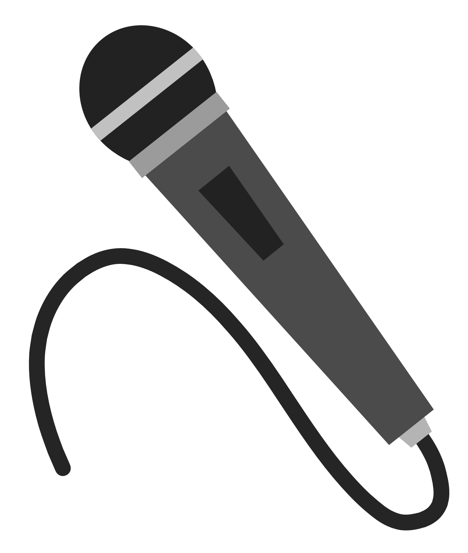 Radio Microphone Vector And Free Download The Graphic Cave Clipart Image 11479 Free Clip Art Clip Art Microphone Images