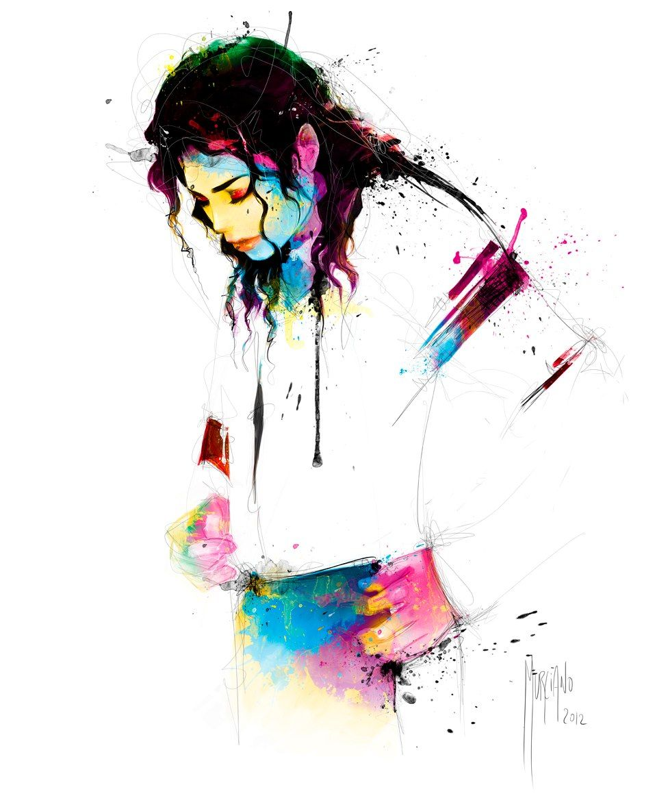 Michael Jackson painting by Patrice Murciona, I think this painting holds allot of emotion, Michael Jackson looks sad but the colours that Murciano has used are very bright which could be used to represent happiness.