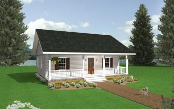 House Plan 1776 00001 Cottage Plan 864 Square Feet 2 Bedrooms 1 Bathroom Country Style House Plans Small Cottage Homes Cottage Style House Plans
