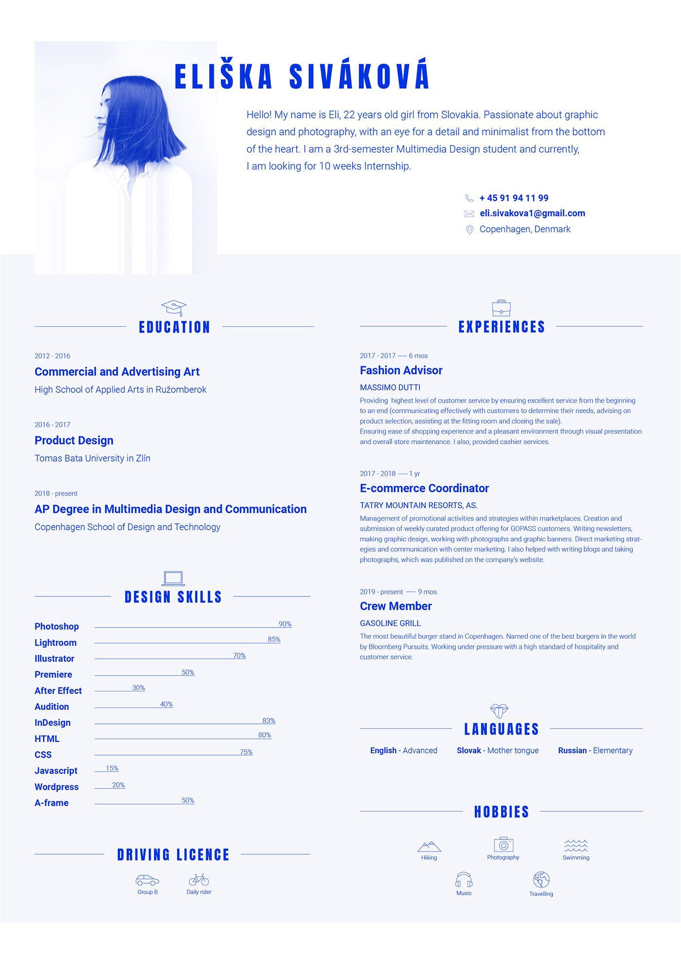Creative Resume Cv Creative Cv Creative Resume Graphic Design