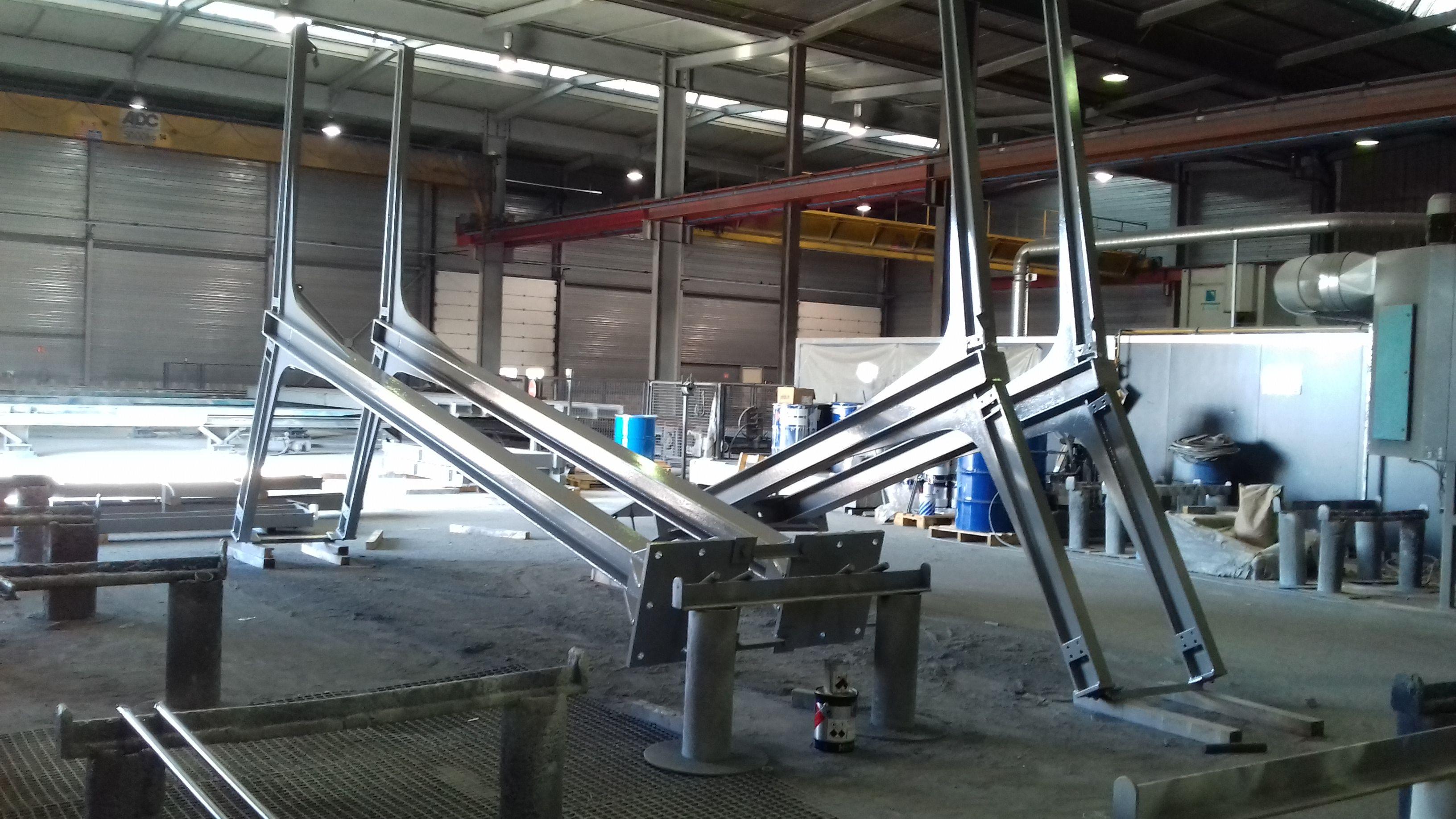 Charpente en fabrication à l'atelier Vilquin