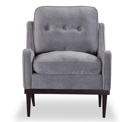 Corrigan Studio Agustin Midcentury Modern Armchair Upholstery Gray