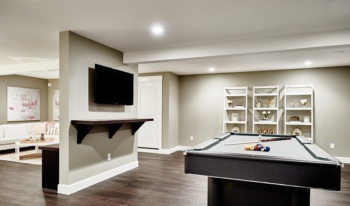 Photo of Our basement recreational rooms serve the best entertaining spot. Built in surro…