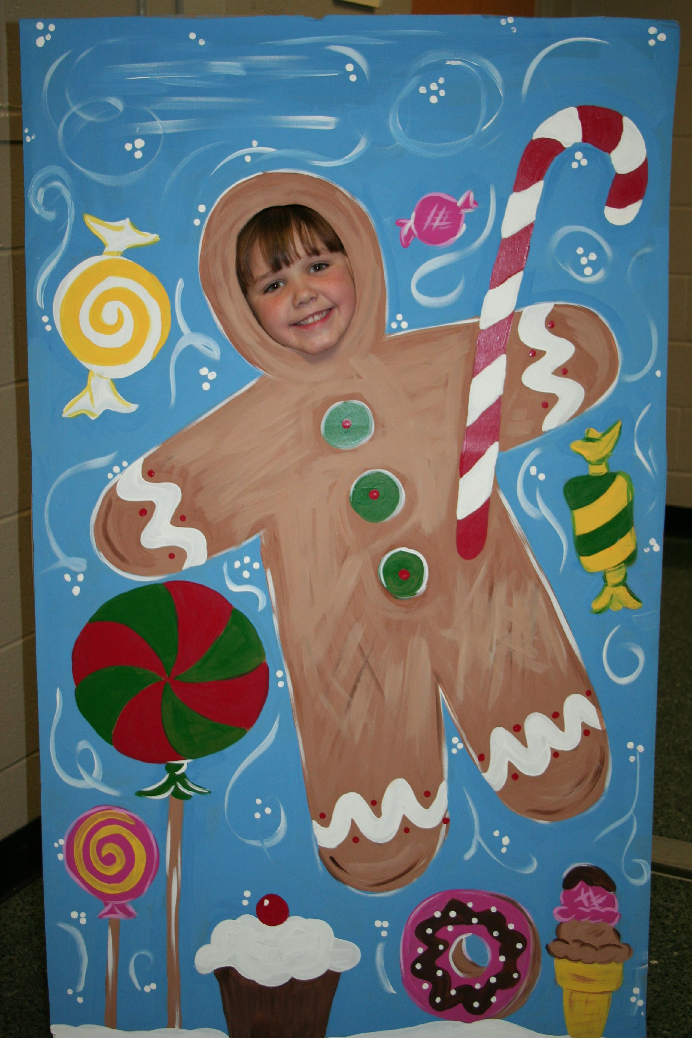 Christmas Gingerbread Man Photo Op Standee Insert Your