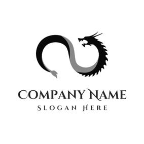 Black Roaring Dragon Logo Design Logo Design Logo Dragon Custom Logo Design